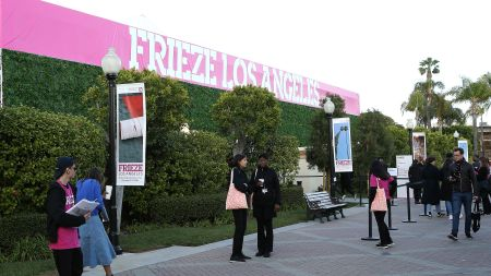 Visitors at the Frieze Art Fair