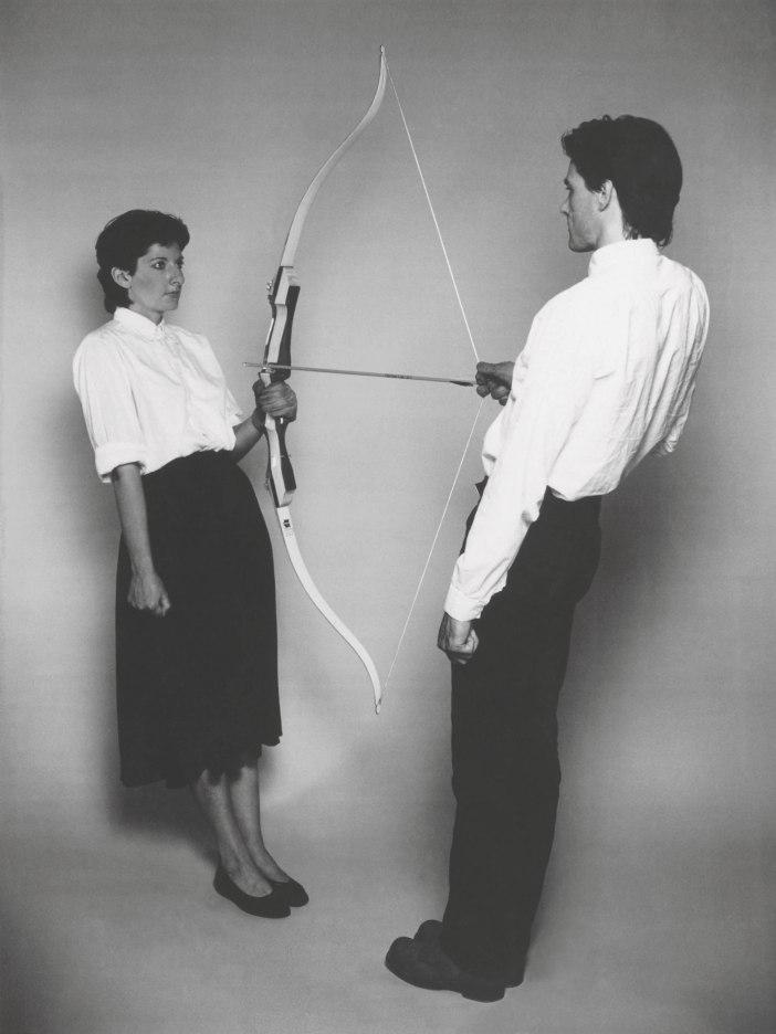 Marina Abramović and Ulay, Rest Energy, 1980.