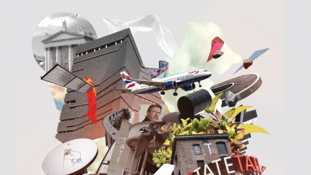 Photo illustration of the Tate museum