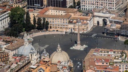 View of an empty Piazza del