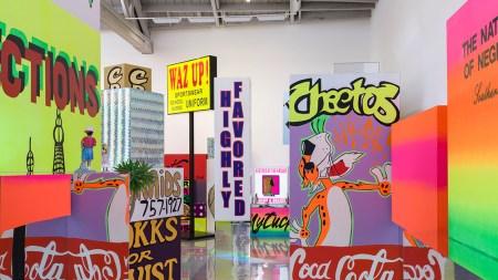 View of Lauren Halsey's 2020 exhibition