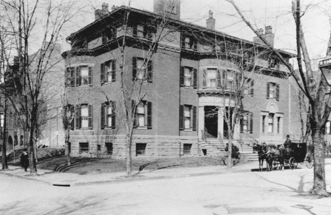 The Phillips house in 1921. After