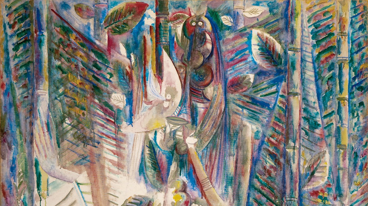 Wifredo Lam, Omi Obini, 1943. | Bildquelle: https://www.artnews.com/art-news/market/sothebys-latin-american-art-kahlo-lam-1202688993/ © 2020 ESTATE OF WIFREDO LAM/ARTISTS RIGHTS SOCIETY (ARS), NEW YORK/ADAGP, PARIS | Bilder sind in der Regel urheberrechtlich geschützt