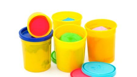 Colourful molding dough for children