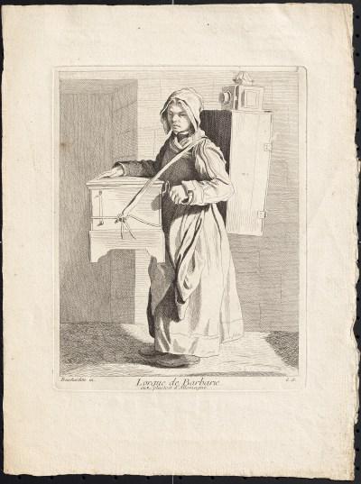 Edmé Bouchardon, L'orgue de Barbarie, 1737.