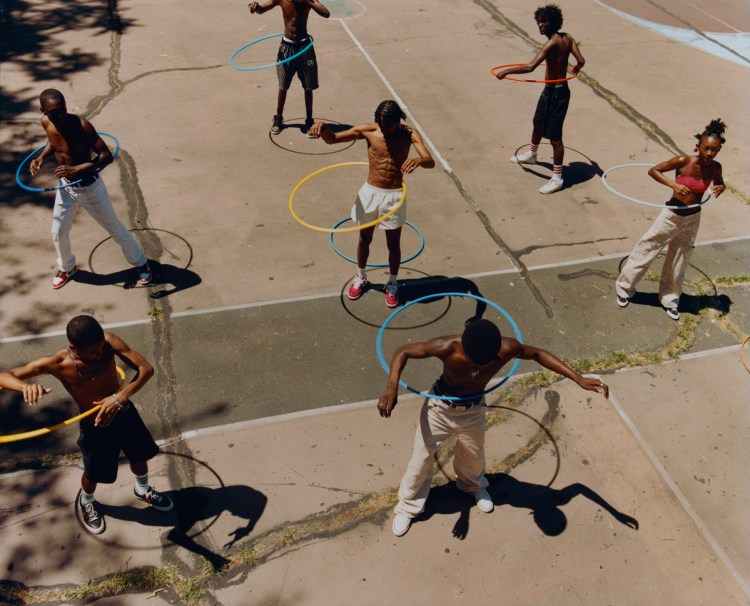 Tyler Mitchell, Untitled (Group Hula Hoop), 2019.