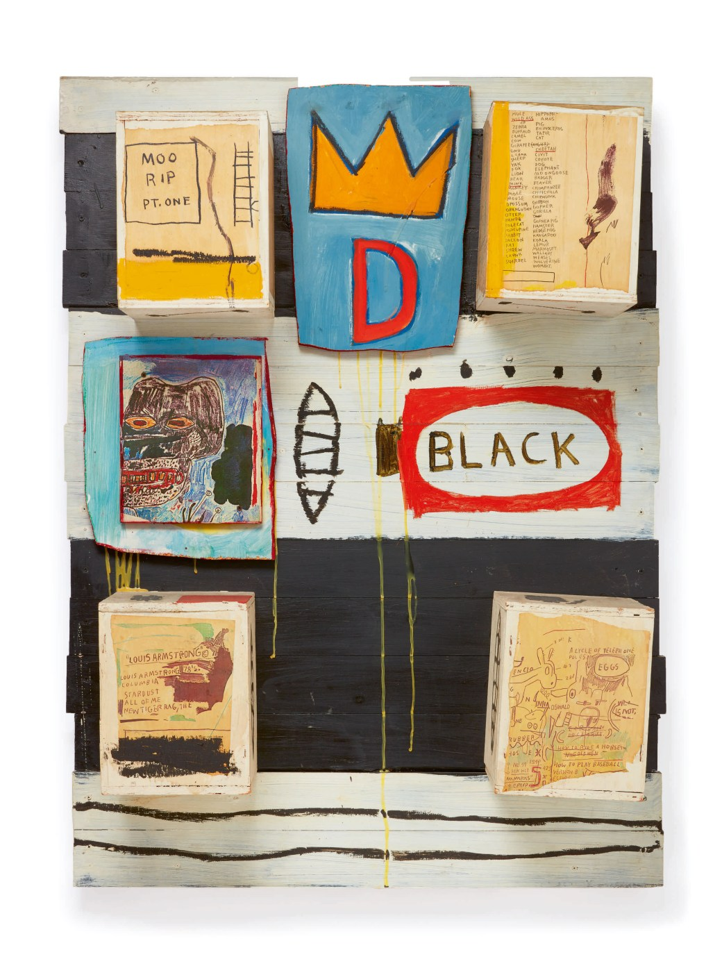Jean-Michel Basquiat, 'Black', 1986.