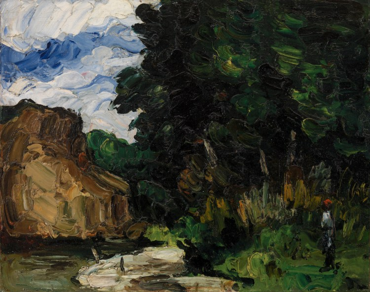 Paul Cézanne, 'River Bend (Coin de rivière),' ca. 1865, oil on canvas.