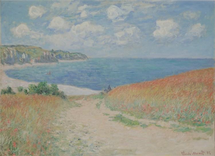 Claude Monet, 'Path in the Wheat Fields at Pourville (Chemin dans les blés à Pourville),' 1882, oil on canvas.