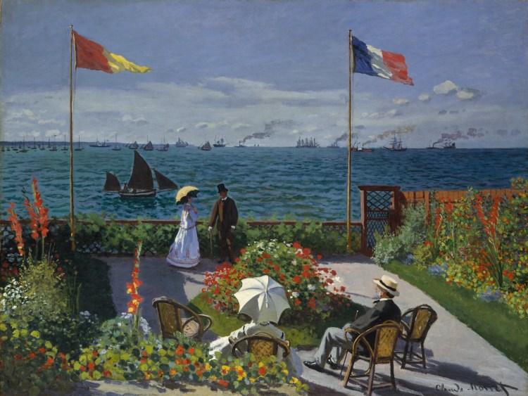 Claude Monet, 'Garden at Sainte-Adresse,' 1867, oil on canvas.