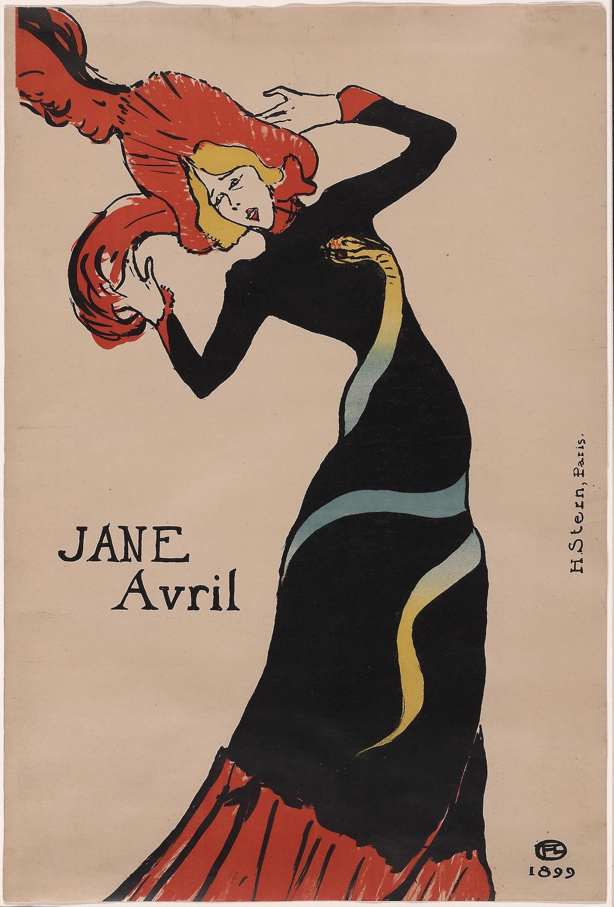 Henri de Toulouse-Lautrec, 'Jane Avril', 1899.