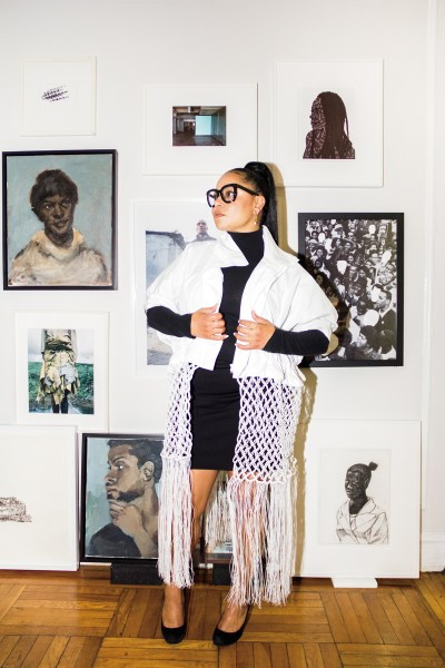 Joeonna Bellorado-Samuels in her Brooklyn home. Her art collection includes Mel Bochner, Leslie Hewitt, Toyin Ojih Odutola, Hank Willis Thomas, Kerry James Marshall, Lynette Yiadom-Boakye, and Jackie Nickerson.