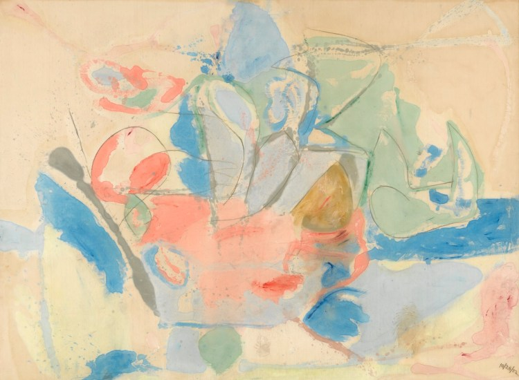 Helen Frankenthaler, 'Mountains and Sea', 1952.
