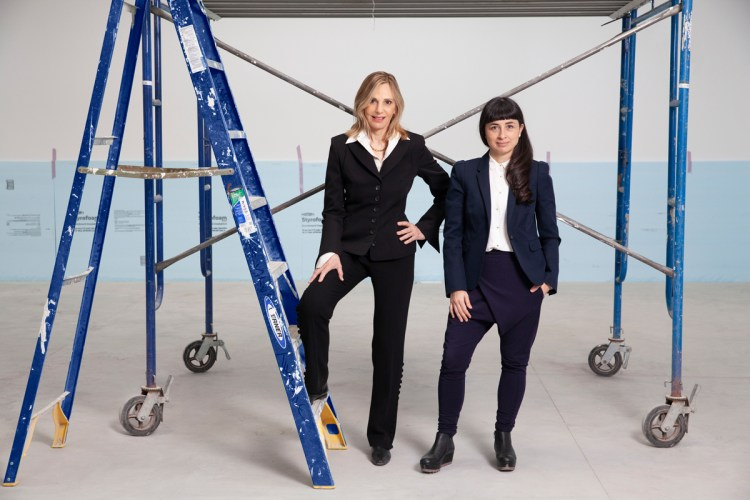 Amant's founder Lonti Ebers and artistic director Ruth Estévez on site at Amant, March 2021.