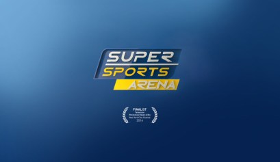 Super Sports Arena channel branding by Vividthree Productions Singapore.