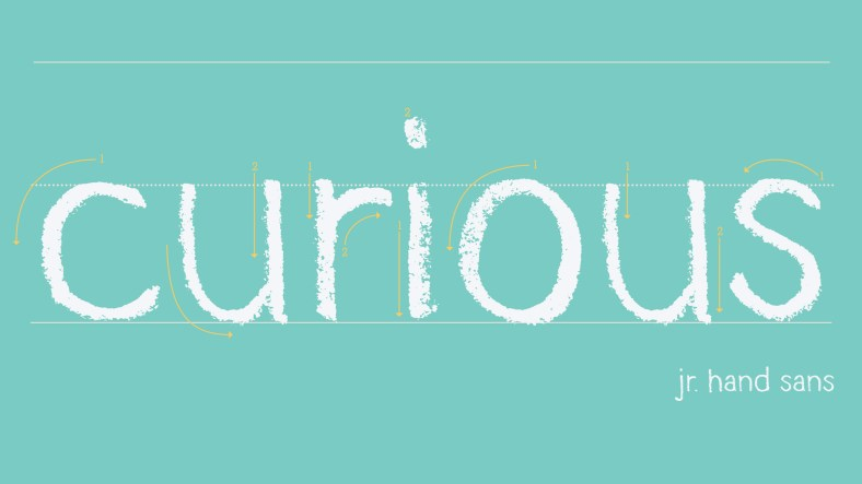 Family Jr custom typeface
