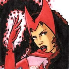 Scarlet Witch Sketchcard