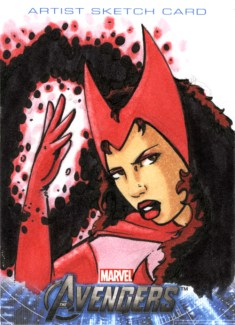 Scarlet Witch Sketchcard