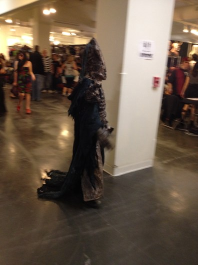 The person in this costume kept zooming by and all I ever got were blurry pictures. But it works if you ask me.