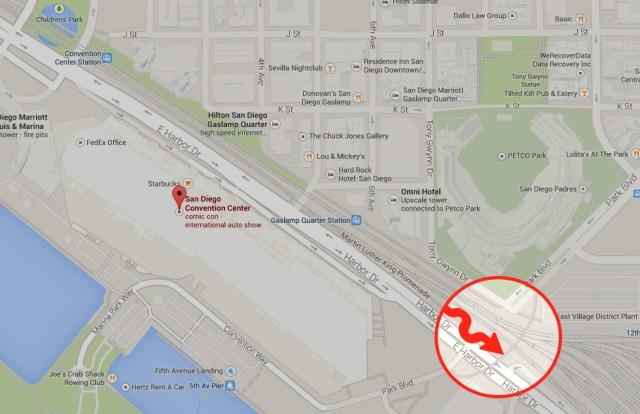 Map to Pedestrian Bridge