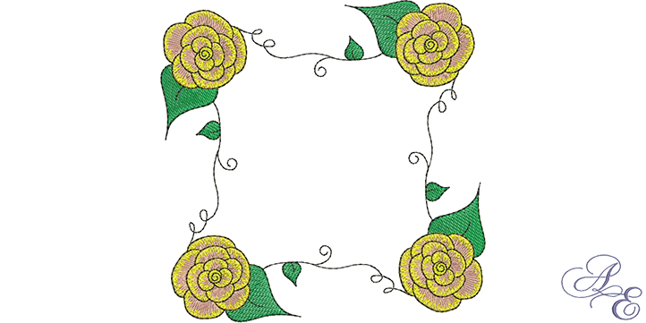 Art Of Embroidery Rose Vine Square Machine Embroidery Designs