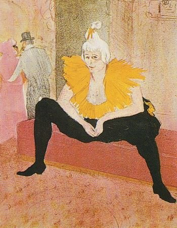 [Toulouse-Lautrec - art print, poster - Seated Clown, Cha-U-Kao]