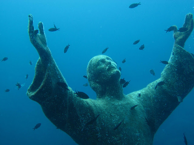 Christ of the Abyss, Liguria, Italy