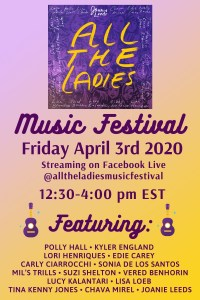 Joanie Leeds musical festival on April 3