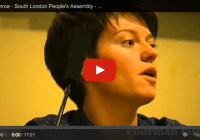 Jack Monroe, Protesting the Benefit Cuts – South London People's Assembly (Aug 2013)