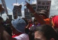 Yarl's Wood protesters demand shutdown (June 2015)
