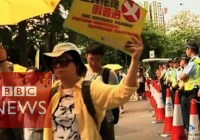 Yellow protest umbrellas return to Hong Kong streets (June 2015)