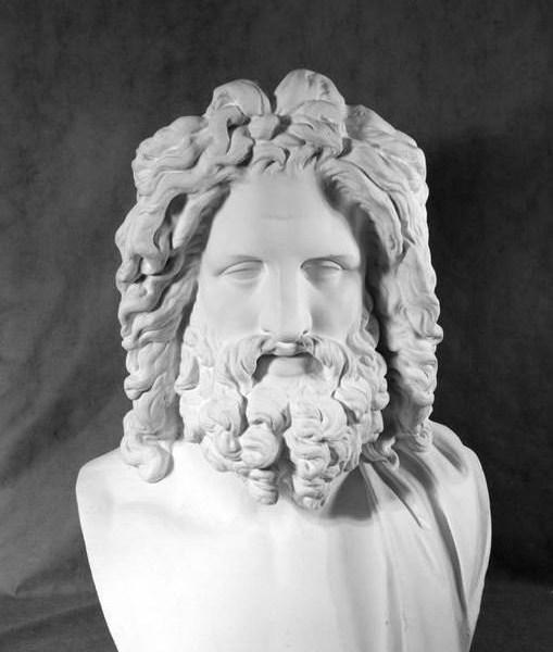 Гипсовый бюст Зевс