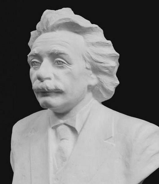 Альберт Эйнштейн. Бюст. Гипс