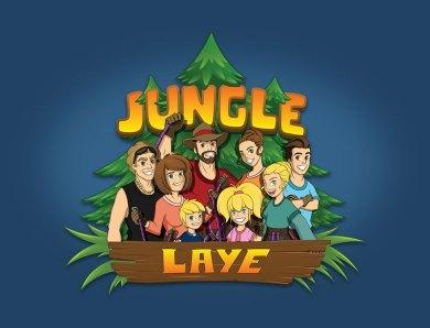 Illustrations de personnages et logos pour le parc d'accrobranche Jungle Laye