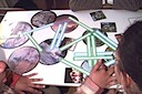In the activity shown in this image, American and Russian students work together to explain visually how the biosphere works.  Using photographs, and arrows, they had to create a web of ideas.
