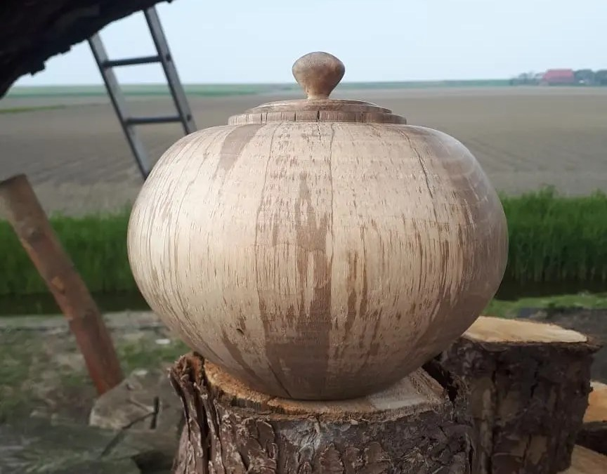 Spalted Walnut Urn Hollow Form