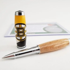 Bruins Fan Gift Idea - Boston Garden Wooden Pen Bruins Logo