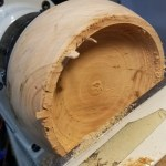 Turning a wood log