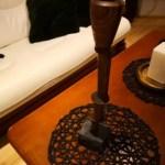 Wood turned candle stick by UOSiO dirbtuvės