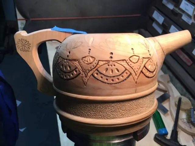 Cherry Wood Teapot
