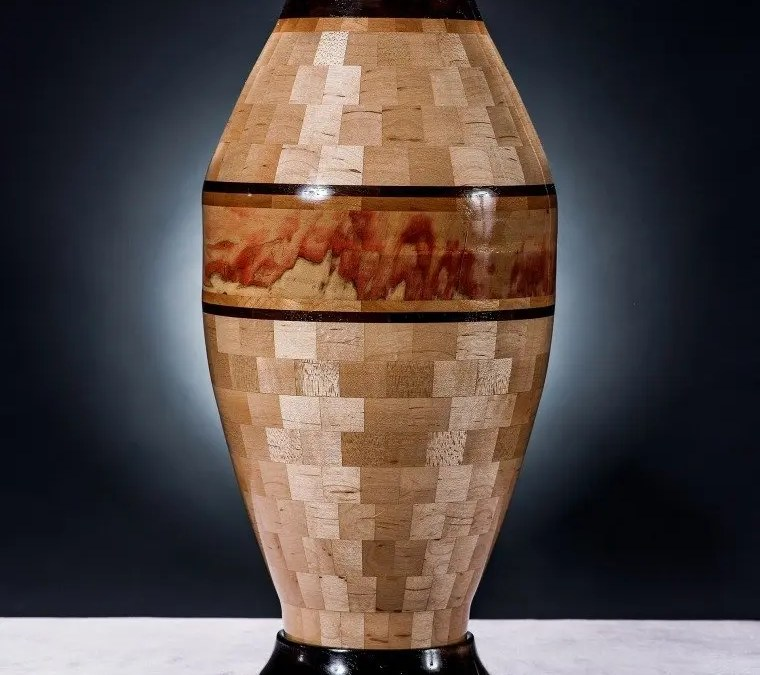 Segmented Vase – Autumn in the Wasatch