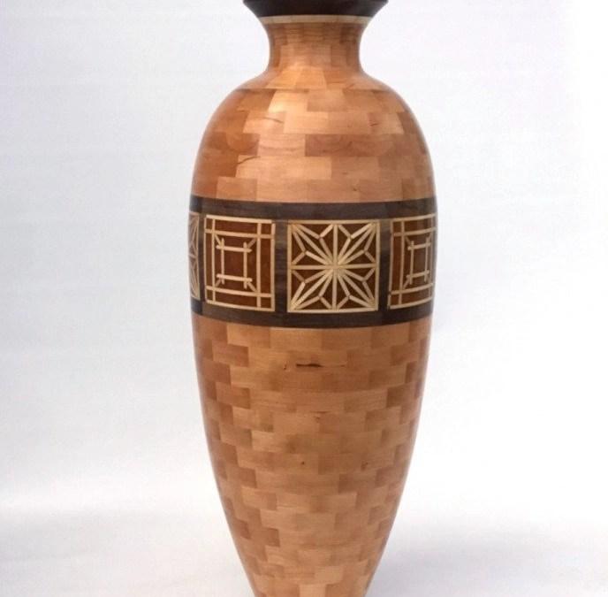 Segmented Vase with Kumiko Patterns