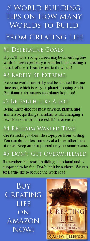 #authors can learn how many worlds to build in #fantasy and #scifi when #worldbuilding. These 5 tips are extracted from CREATING LIFE (THE ART OF WORLD BUILDING, 1). Read more at www.artofworldbuilding.com