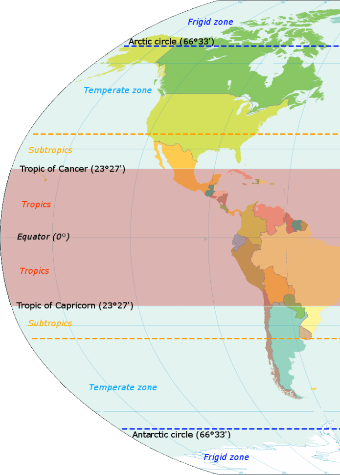 Figure 16 The Americas: Climate Zones