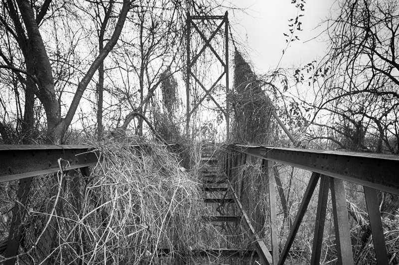 Sidaway Suspension Bridge Showing Missing Decking
