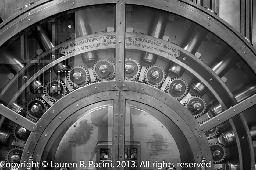 Detailed view of the Main Vault Door