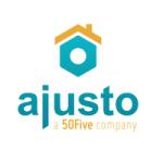 Het logo van Ajusto, een Belgisch bedrijf gespecialiseerd in klusjes binnens- en buitenshuis.