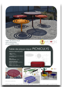 Table de pique-nique PICNICULYS -  Mobilier urbain