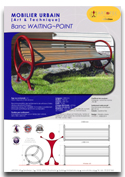 Banc WAITNG-POINT - Mobilier urbain