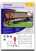 Bänk WAITING POINT ARTOTEC lekskulpturer och park/urbana möbler med KONST & TEKNIK